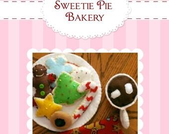 DIY Felt Pattern Christmas Cookies Set...Santa Plate...Hot Cocoa Mug..PDF