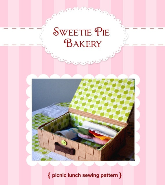 DIY Felt Picnic Lunch with Basket, Quilt, and Food Pattern PDF