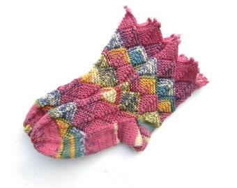 Fairytale Socks Kids Pink, European size 25/26, US Kids size 8/8,5