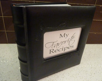 Black Leather Recipe Album - Comes with Tried & True Favorite Recipes