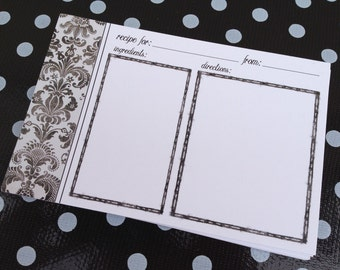 50 Quality Blank Recipe Cards - Printed on THICK 16 pt. matte card stock