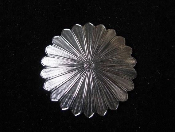 Scarf Clip Pin Brooch silver tone marked Lieba USA