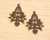 Vintaj Brass Filigree Trellis Set of Two SALE