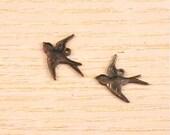Vintaj Brass Flying Bird Charms Set of Two SALE