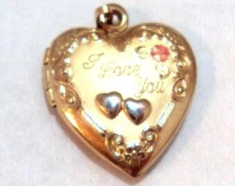 1/20 14KT GF-R I Love you Heart Locket