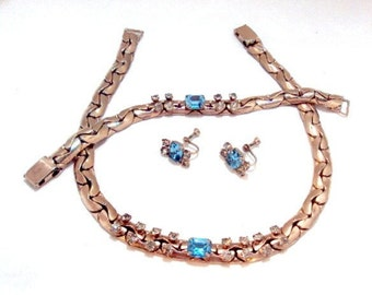 3 Piece 50's Necklace, Earrings, Bracelet Set