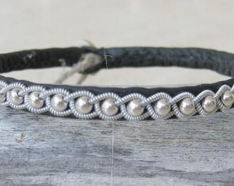 Saami Swedish  Lapland bracelet - model POLARIS Sterling Silver
