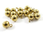 20 - Vintage Brass Round Ball Drops - 5mm.