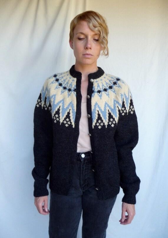 Reserved 50s Wool Nordic  Wool sweater  Handmade in Norway