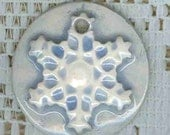 Snowflake Pendant Bead Charms..set of two