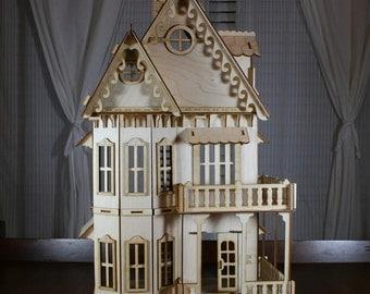 Victorian Gingerbread Dollhouse Baltic Birch Plywood Kit