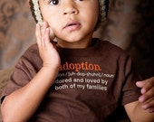 2T Adoption Definition Chocolate Brown Tee