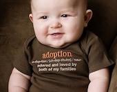 0-3 Months Adoption Definition Chocolate Brown Short-Sleeved Bodysuit