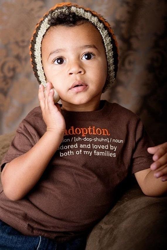 2T Adoption Definition Chocolate Brown Tee