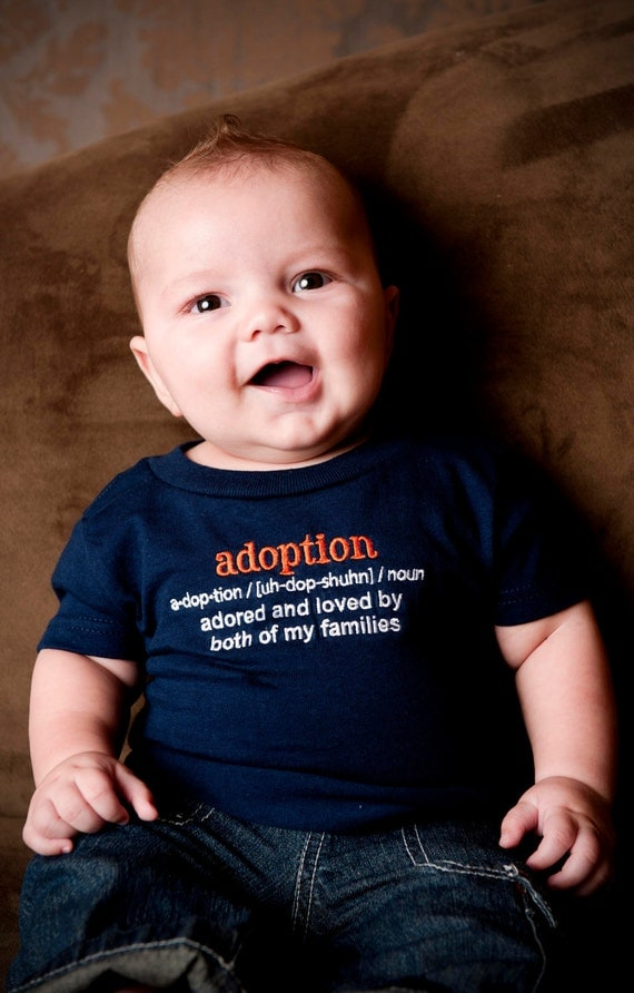 Adoption Definition T Shirt 18 Months In Navy Adoption
