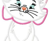 Marie Cat Embroidery Design