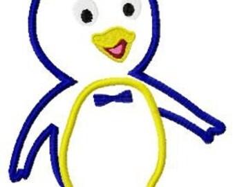 Pablo Penguin embroidery design