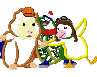 Wonder Pets Embroidery Design