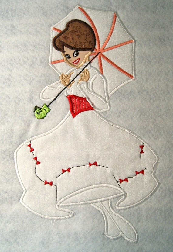 Nanny Mary Applique Embroidery Design