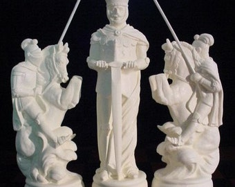 "9"" king// MEDIEVAL Chess Set ""Plain ebony & ivory look"" Free Shipping"