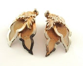 Mesh Earrings Vintage Jewelry Nature Leaf Clip Earrings (Free Shipping USA)