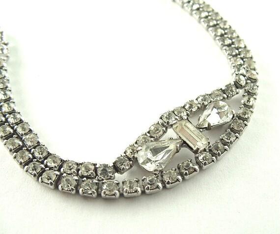 Vintage Rhinestone Bracelet Sparkle Jewelry Wedding Bridal Jewelry, Free US Shipping