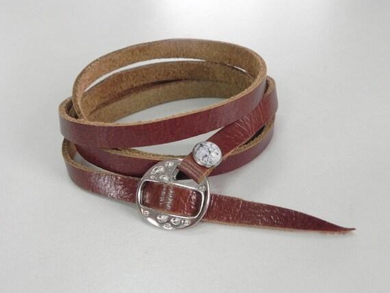 Wrap Tan Leather Bracelet Leather Cuff