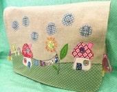 """Stitch"""" Applique Sewing Machine Cover pdf pattern"""