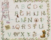 First Stitches: Rosie & Bear Alphabet Sampler Hand Embroidery Pattern