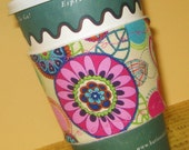 Cup Cozie - Free Shipping when you buy 2 or more - Kolorful Kaleidoscope