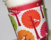 New Snap Bling Design Cup Cozie - Free Shipping when you buy 3 or more - Tree Birds