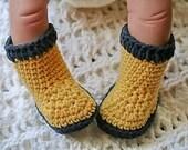 Crocheted Cotton Newborn Rain Booties