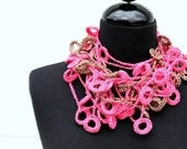CROCHET PATTERN - Loopy Loop Necklace