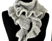 KNITTING PATTERN -  Dancing Waves Scarf Knitting Pattern Aran Weight Yarn