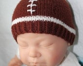 PATTERN - Football Baby Hat Knitting Pattern Size 0 to 3/6 to 12 Months/1-3 Years Knitted in the Round