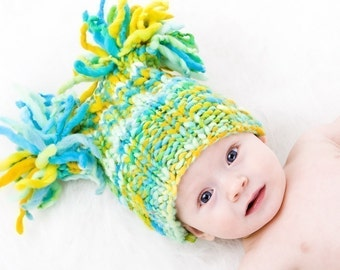 PATTERN - Fireworks Hat Not Knitted In the Round Sizes Baby To Adult Thick To Thin Bulky Weight Yarn