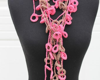 CROCHET PATTERN - Necklace Loopy Loop