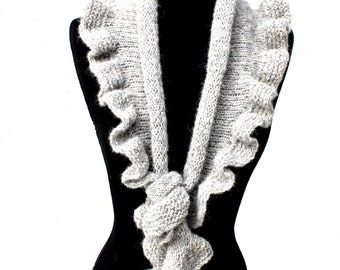 PATTERN -  Dancing Waves Scarf Knitting Pattern Aran Weight Yarn