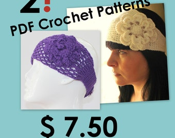 CROCHET PATTERN - Headband With Flower Crochet Pattern