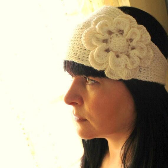 Flower Headband Tutorial: Headband With Flower Crochet