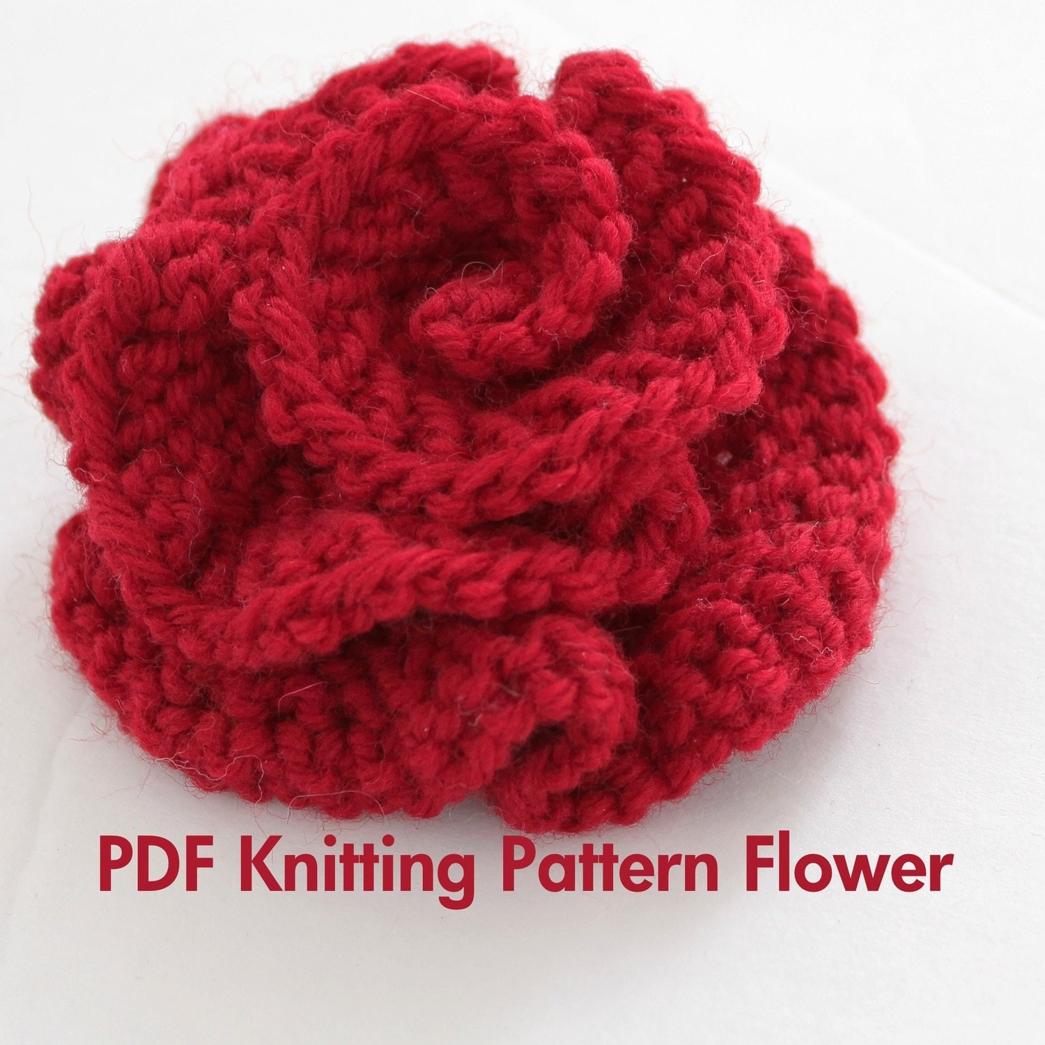 Knitting Tutorial : Pattern knitted flower pdf very easy photo
