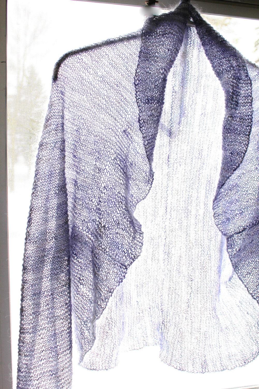 PATTERN Shrug/Bolero Knitting Pattern All Knit Stitch Lace