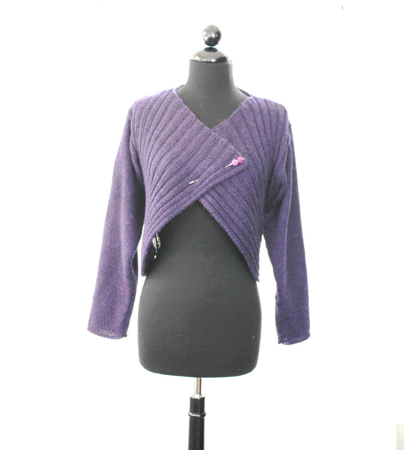 PATTERN New Italian Rib Shrug/Bolero Knitting Pattern For