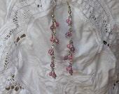 SALE  Pink Dangle Earrings
