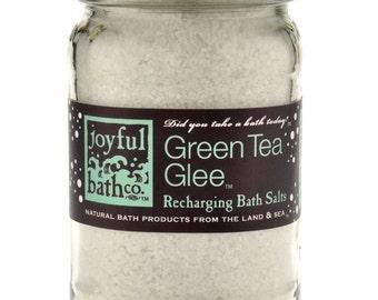 Green Tea Glee Recharging Bath Salts 16 oz. Glass Jar