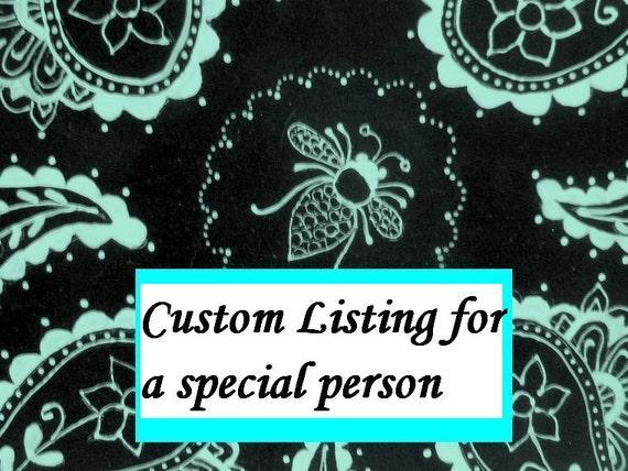 Custom LIsting For Missy Windhorst