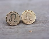 Gold Astrology Studs - Leo