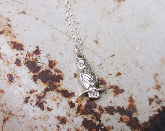 Owl Necklace Silver, Owl Necklace