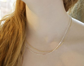 Chain Link Necklace, Short Chain Necklace, Gold Filled Chain Necklace, Sterling Silver Chain Necklace, Chain Necklace, Chain Choker Necklace