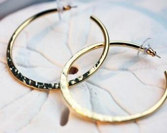 Hoops Hammered Gold, Gold Hoop Earrings, Large Hook Earrings, Hammered Hoop Earrings, Hoop Earrings, Vintage Hoop Earrings, Hoops, Earrings